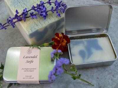 Foto von Geschenkdose Lavendel
