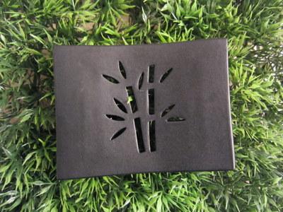 Foto von Seifenschale Keramik schwarz (Bambus)