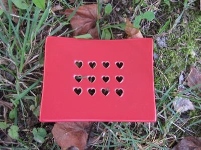 Foto von Seifenschale Keramik rot (Herzen)