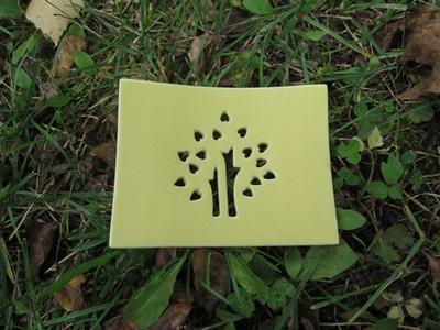 Foto von Seifenschale Keramik gelb (Glücksbaum)