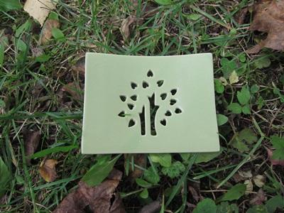 Foto von Seifenschale Keramik grün (Glücksbaum)