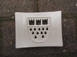 Foto von Seifenschale Keramik Köln weiß