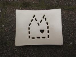 Foto von Seifenschale Keramik DOM weiß