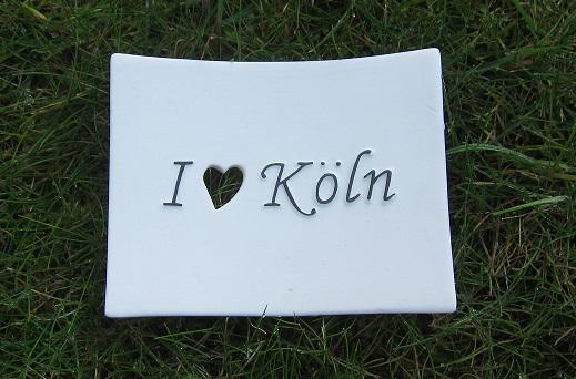 Foto von Seifenschale I Love Köln (mit schwarzer Schrift)