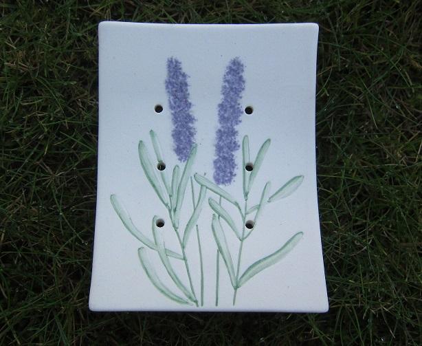 Foto von Seifenschale Lavendel (Ton) unglassiert